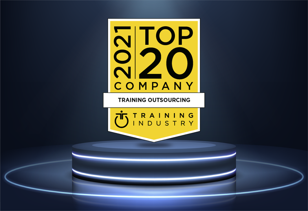 Aptara – Awarded for the 9th time: 'Top 20 Training Outsourcing Companies' for 2021 by Training Industry!