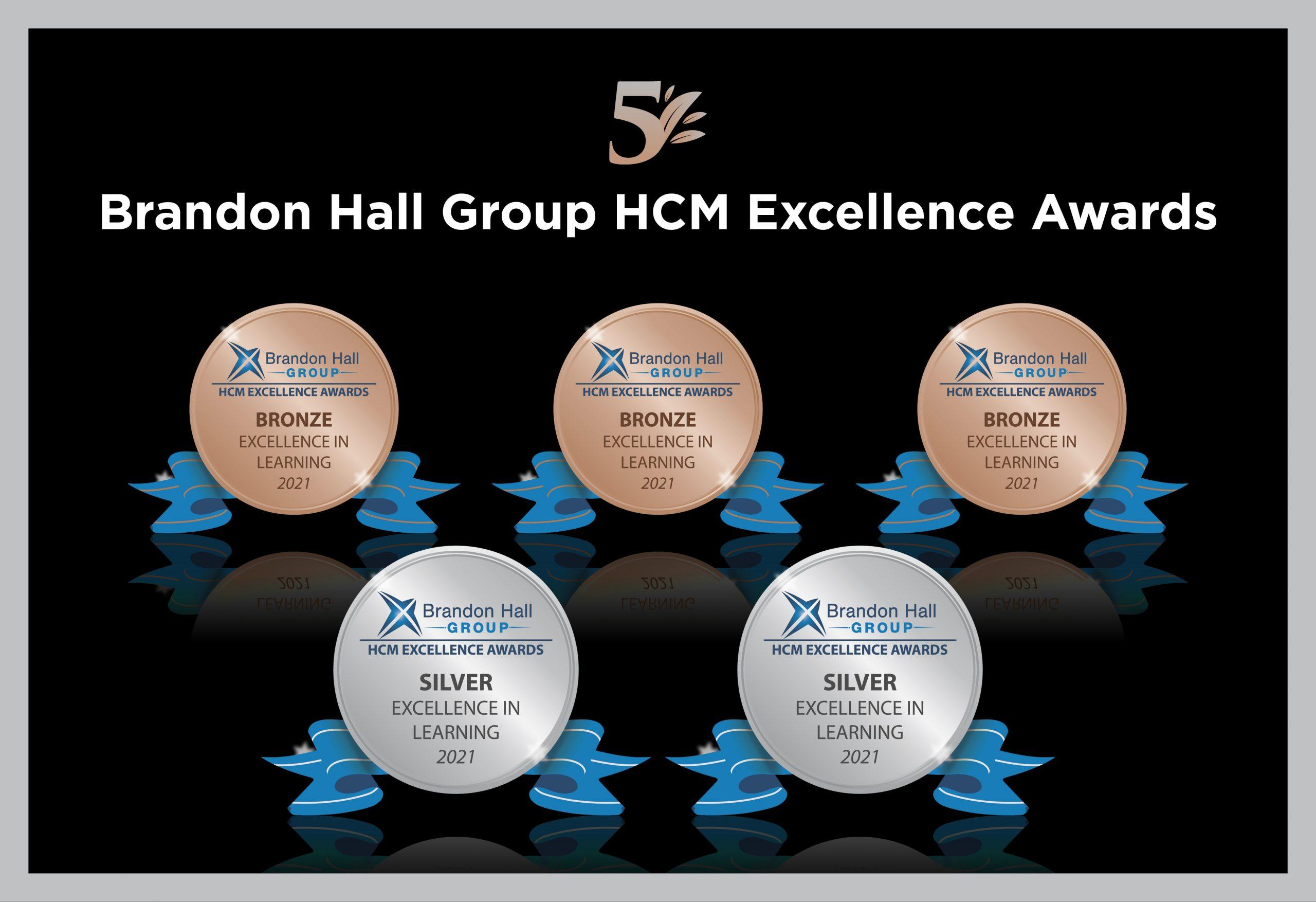 2 Silver and 3 Bronze Awards for Aptara at Brandon Hall Group's HCM Awards, 2021